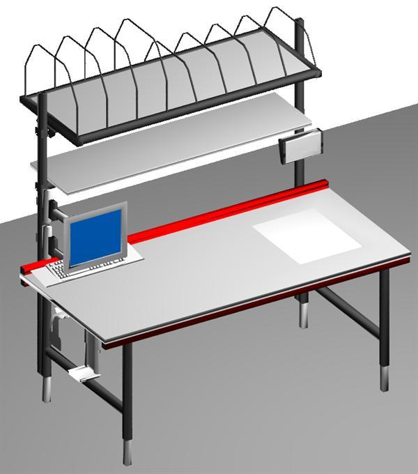 verpackungsplatz mit integrierter waage und kompletter pc anbindung betriebseinrichtungen lenz. Black Bedroom Furniture Sets. Home Design Ideas